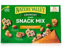 With Nature Valley's Crunchy Granola Snack Mix, each bite is a unique experience. An interactive mix filled with delicious flavors and textures including crunchy bar pieces, flavored peanuts, and drizzled pretzels. Chocolate Granola, Chocolate Snacks, Chocolate Flavors, Peanut Butter Granola, Crunchy Granola, Salty Snacks, Yummy Snacks, Nature Valley Granola, Fruit And Nut Bars