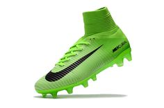 d49c10651339 Mercurial Superfly V FG Electric Green Black Ghost Green Cheap Soccer  Shoes