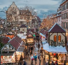 Marchés de Noël de Colmar, Alsace, France. I went to markets like this in Hamburg. It really made it feel like Christmas