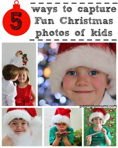 5 ways to capture fun Christmas photos of kids!