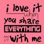 I love it when you Share with me ! Facebook Cool Cover Photo