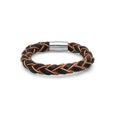 Look at this HMY Jewelry Brown Leather & Stainless Steel Braided Bracelet on today! Braided Bracelets, Bracelets For Men, Jewelry Bracelets, Rope Braid, Braid Designs, Mens Braids, Braided Leather, Leather Working, Brown Leather