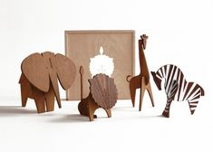 Limited Edition Moderne Safari Box Set (sold out) but I like them. Wooden Animal Toys, Wood Toys, Wood Crafts, Paper Crafts, Diy Crafts, Wood Projects, Woodworking Projects, Woodworking Shop, Laser Art