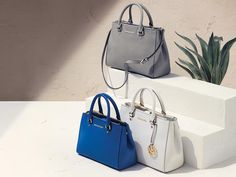 Channel a Mediterranean moment with our Sutton satchel in seaside hues. http://mko.rs/338pl  #sunkissed