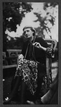 Virginia Woolf, photographed by Ottoline Morrell