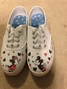 Rose Tattoo Custom hand painted Vans Authentic shoes