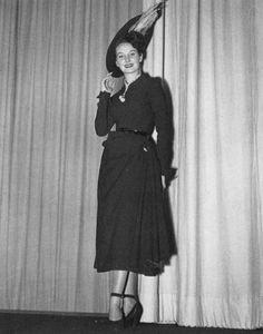 1948 dress wool   Drag  . Maria Claudia · Christian Dior 1947 1957 0988a1e1c29