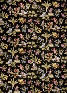 From Lifestyles by Color Vol II  by Trend, a division of Fabricut, 02432 Ebony is a tropical , fruit , floral , animal fabric in black , green , purple.  This fabric is 100% Cotton and its uses include draperies , curtains , panels , valances , scarves ,