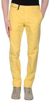$76, Yellow Chinos: Gta Manifattura Pantaloni Casual Pants. Sold by yoox.com. Click for more info: https://lookastic.com/men/shop_items/245025/redirect