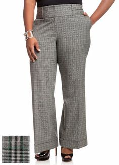 Ashley Stewart Women`s Plus Size Wide Leg Plaid Pants $20.70 (40% OFF)