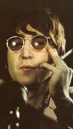 f76e249f368 John Lennon (Press) ahhhh hot I love him with his shades The Fab Four