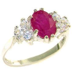 White Gold Natural Ruby and Diamond Womens Cluster Ring cttw, H-I Color, Clarity) Promise Ring For Girls, Promise Rings For Girlfriend, Promise Rings For Couples, Rings For Men, Promise Rings Pandora, Natural Ruby, Cluster Ring, Wedding Jewelry