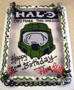 halo cake Halo master Chief Sharon Pinterest Halo cake Cake