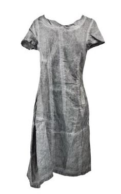 Rundholz Black Label Linen Short Sleeve Dress in Grey » Women's Clothing » Dresses » Santa Fe Dry Goods | Clothing and accessories from designers including Issey Miyake, Rundholz, Yoshi Yoshi, Annette Görtz and Dries Van Noten