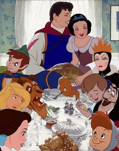 OUAT Thanksgiving... hahaha (not quite, but close! Take out Swan Princess, Christopher Robin, and the lost boy)