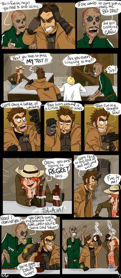 Fallout Comics, Fallout Funny, Fallout Fan Art, Fallout New Vegas, Post Apocalypse, Air Max 270, Elder Scrolls, The Funny, Game Art