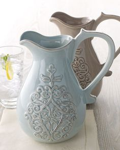 """Shop """"Corrine"""" Pitcher at Horchow, where you'll find new lower shipping on hundreds of home furnishings and gifts."""