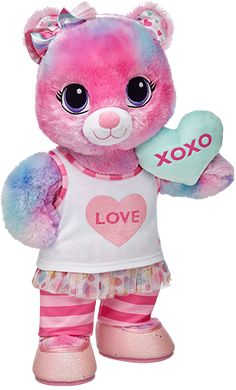 Valentine's Day Gifts at Build-A-Bear (valentins day nails for kids) Teddy Bear Cartoon, Cute Teddy Bears, Valentine Day Gifts, Valentines, Valentine Special, Sweet Hug, Hello Kitty Christmas, Build A Bear, Bear Art