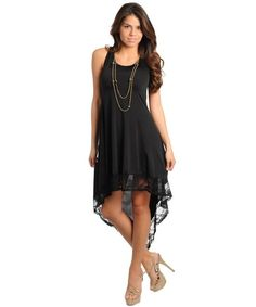$39.99 Womens Small Medium or Large Dress NEW High Low Dress Green Peach or Black CUTE