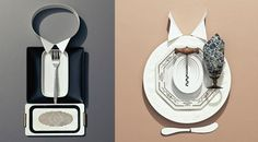 Art Director Sonia Rentsch composed refined outfits by using kitchen utensils. these came out great