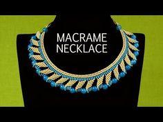 Nefertiti Macrame Necklace Tutorial - YouTube