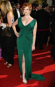 Christina Hendricks Photos - Celebrities arrive at the Primetime Emmy Awards, held at the Nokia Theatre in Los Angeles, Calif. - The Primetime Emmy Awards - Red Carpet Arrivals Christina Hendricks, Beautiful Christina, Beautiful Redhead, Beautiful Ladies, Prom Dress 2013, Plus Size Prom Dresses, Celebs, Celebrities, American Women