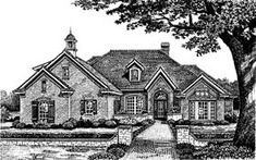 European House Plan 66087 Elevation