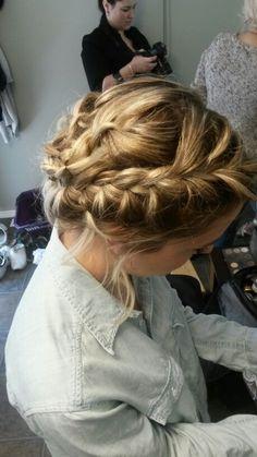 Crown braid for a bridesmaid