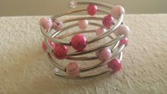 Pink gum balls memory wire