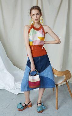 Denim Midi Skirt by Marni