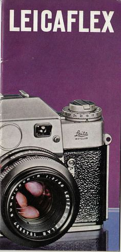 Original Leitz Sales Brochure / Pamphlet Leicaflex 24 pages Product No. Leica Photography, Lomography, Camcorder, Ebay, Shots, Action, Products, Photography, Video Camera