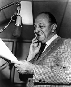 Mel Blanc, voice artist for the Looney Toons cartoons circa 1940s