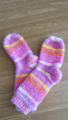 Kuschel Socken mit meiner ersten Bumerrangferse