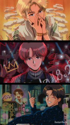 Aesthetic Art, Aesthetic Anime, Bts Anime, V Chibi, Kpop Drawings, Dibujos Cute, Fanarts Anime, Kpop Fanart, Bts Pictures