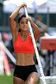 Allison Stokke challenges Jessica Ennis for the title of hottest female athlete...
