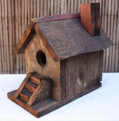 Rustic Recycled/Re-Purposed Birdhouse Hand Made 100% Reclaimed Wood Made In USA