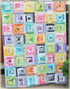 Scrappy Stash quilt along, by me. A quilt as you go project.