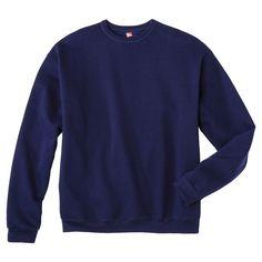 Hanes Premium Men's Fleece Crew-Neck Sweatshirt - Navy (Blue) L