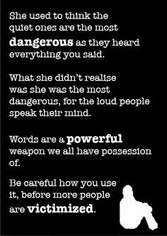 This is a poster I created to help prevent bullying. Bullying Prevention, Online Portfolio, Mindfulness, Sayings, Words, Poster, Lyrics, Consciousness, Billboard