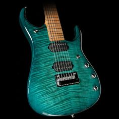 Ernie Ball Music Man John Petrucci JP15 7-String Electric Guitar Flame Teal Burst