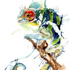 My Chameleon Art Print