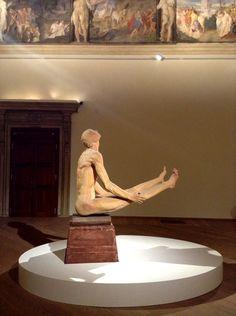 Arturo Martini - Creature. Il sogno della terracotta con l'opera Aviatore - veduta della mostra presso Palazzo Fava, Bologna 2013