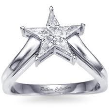 12 Best Latest Star Shaped Rings Images Halo Rings Diamond