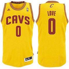 d47c9192d00 Kevin Love Youth Cleveland Cavaliers Revolution 30 Swingman Alternate Gold  Jersey