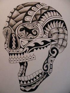 tatuaggio-maori-idea-teschio #maoritattoosdesigns