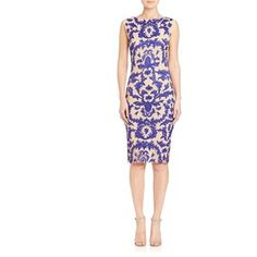 Alice and Olivia Tamika Embroidered Dress