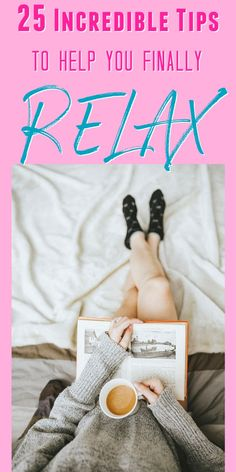 Want to relax? Learn 25 simple tips for relaxation here! These tips and techniques will help you de-stress, relax, and live a happy, peaceful life! These relaxation tips are easy to implement - TODAY! Relax Tips, Ways To Relax, How To Overcome Stress, Yoga For Kids, Kid Yoga, Learning To Relax, What Is Your Goal, Habits Of Successful People, Partner Yoga