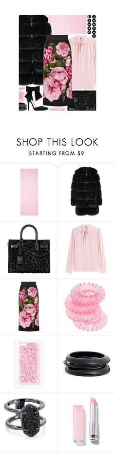 """""""Dark Florals: Contest Entry"""" by isquaglia ❤ liked on Polyvore featuring ISH, Givenchy, Yves Saint Laurent, M Missoni, Dolce&Gabbana, Chloé, Miss Selfridge, Missguided, ZENZii and Kendra Scott"""