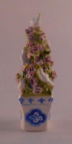 Miniature Porcelain Dove Tree by Veronique Cornish