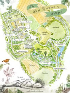 EUROPE'S LARGEST GARDEN RESTORATION PROJECT: The Lost Gardens of Heligan. Map by Seasalt.
